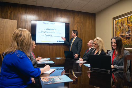 Dillingham Insurance presentation in Enid, OK office